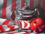 Elena Mehl - Still Life in Red - White