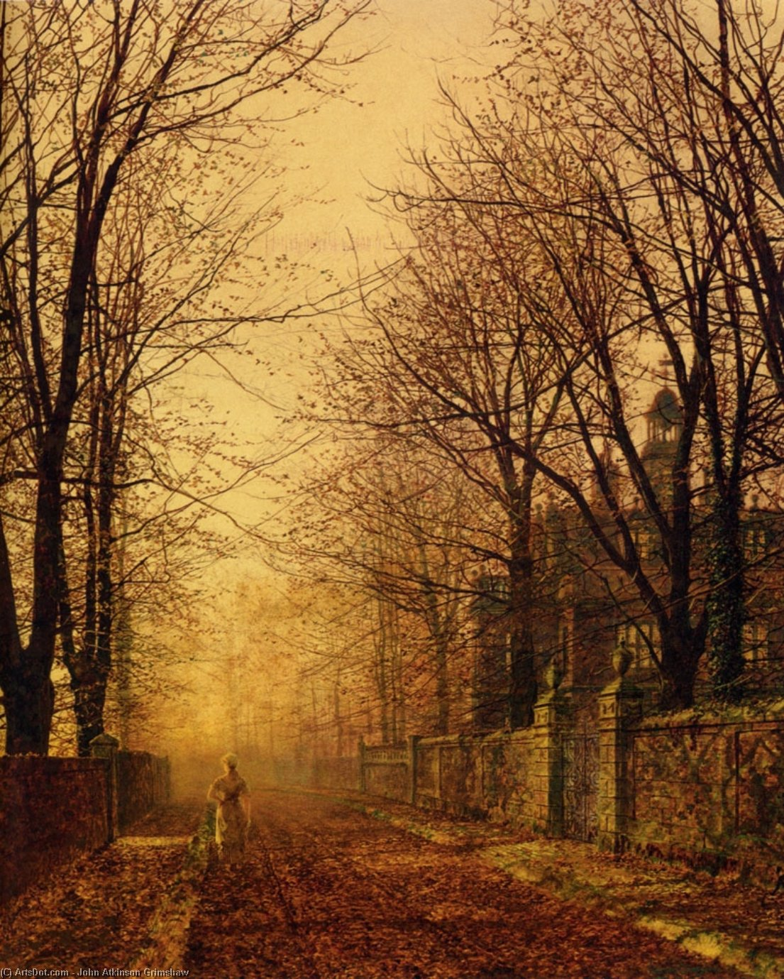 A Golden Feixe por John Atkinson Grimshaw (1836-1893, United Kingdom)