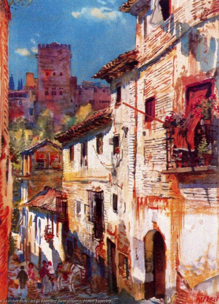 umiel Rua , Granada por Jorge Apperley (George Owen Wynne Apperley) (1884-1960, United Kingdom)