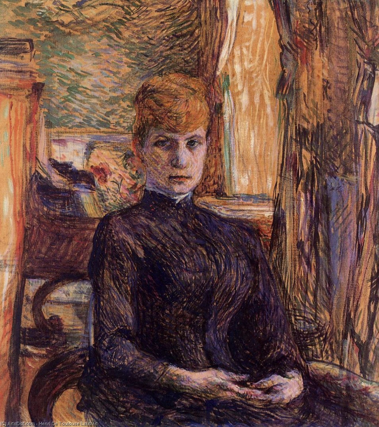 Madame Julieta Pascal, óleo sobre tela por Henri De Toulouse Lautrec (1864-1901, Second French Empire)