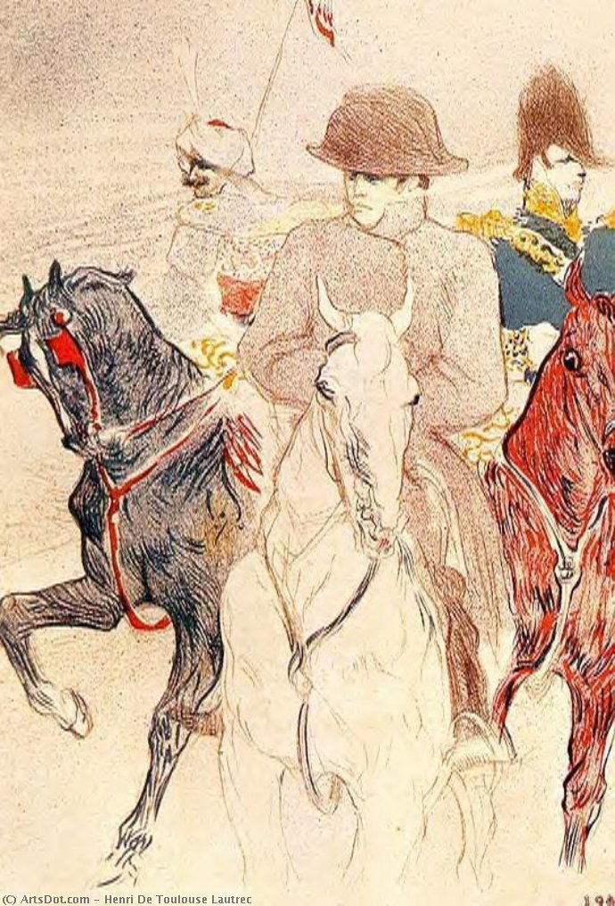Napoleão Bonapart, afrescos por Henri De Toulouse Lautrec (1864-1901, Second French Empire)