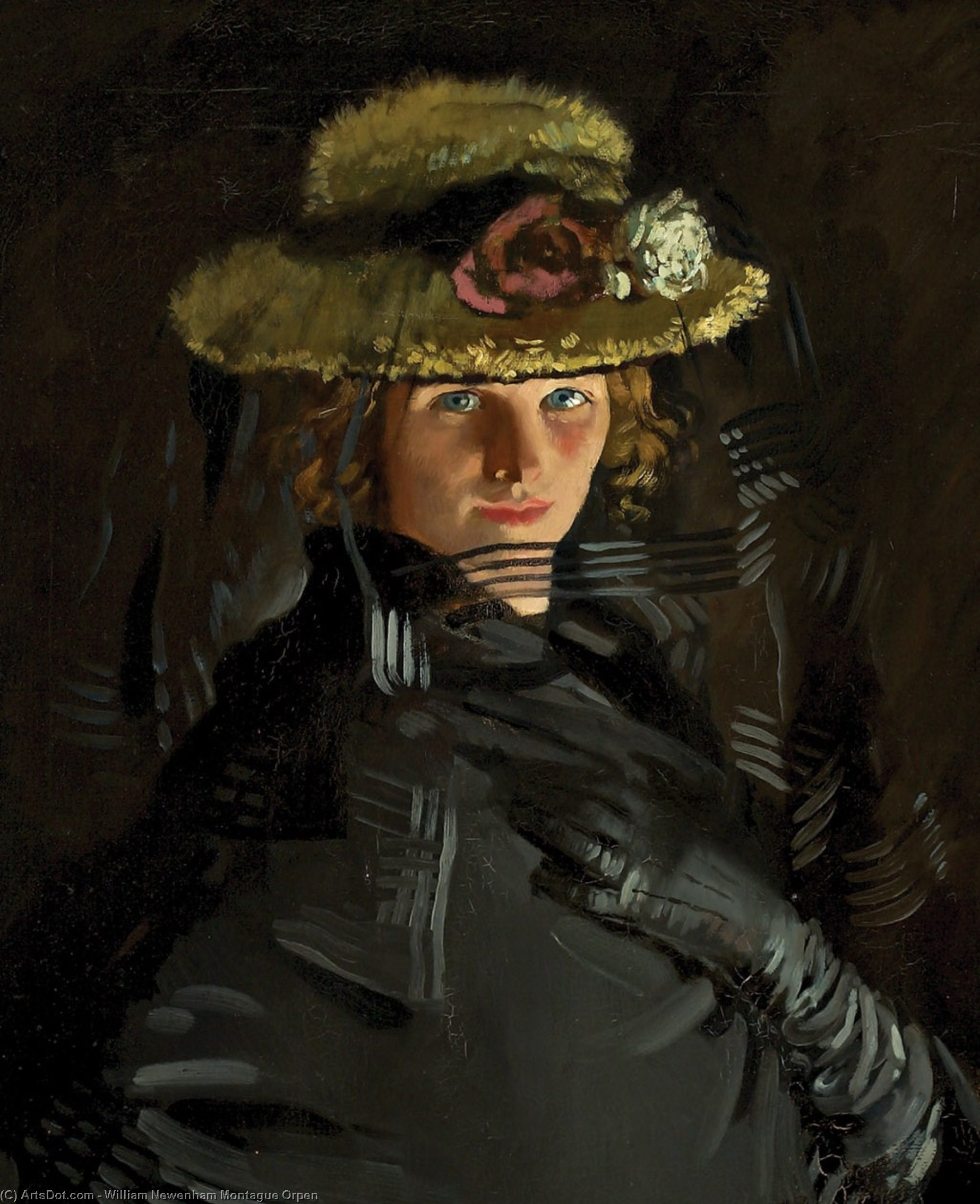 Retrato de Graça ( o Artist's 1st Esposa ), 1907 por William Newenham Montague Orpen (1878-1931, Ireland)