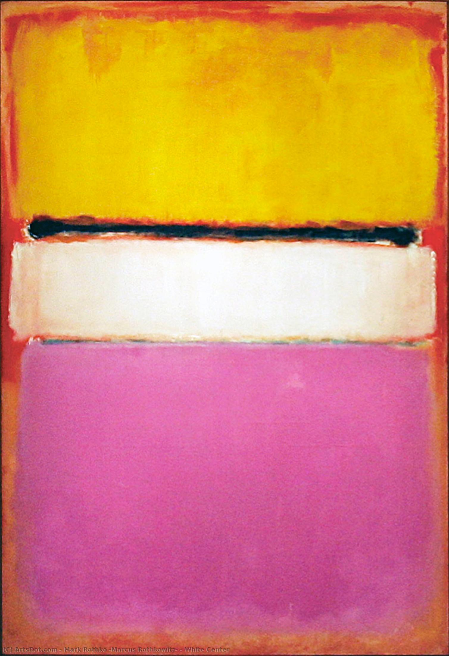 white center, 1950 por Mark Rothko (Marcus Rothkowitz) (1903-1970, Latvia) |  | ArtsDot.com