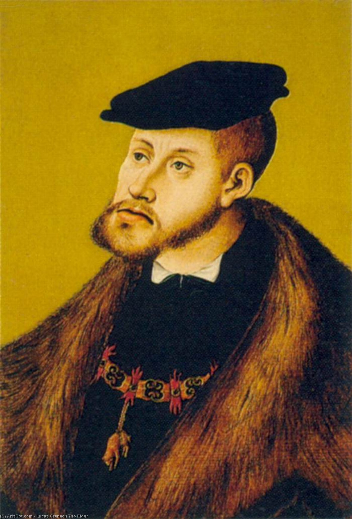 Retrato de charles v, Petróleo por Lucas Cranach The Elder (1472-1553, Germany)