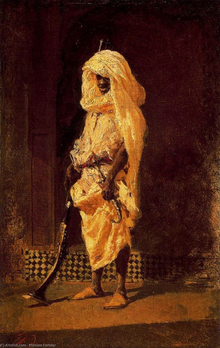 Soldado marroquino por Mariano Fortuny (1871-1949, Spain)