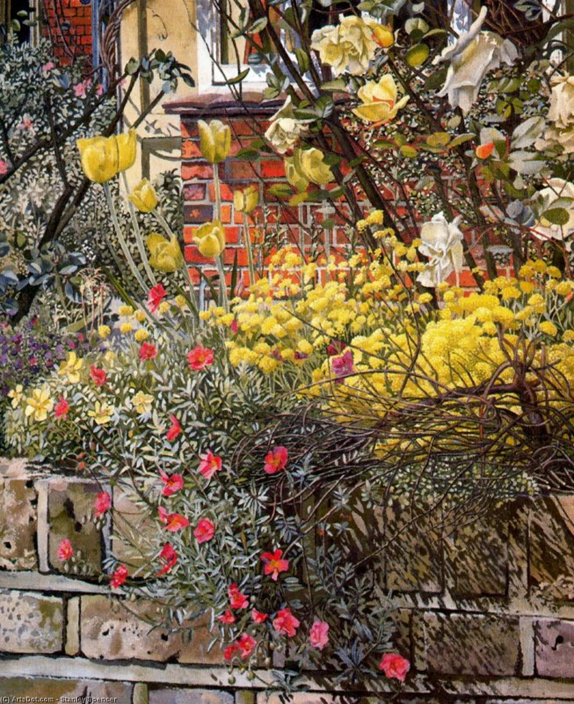 Estevas . old lodge . Taplow por Stanley Spencer (1891-1959, United Kingdom)