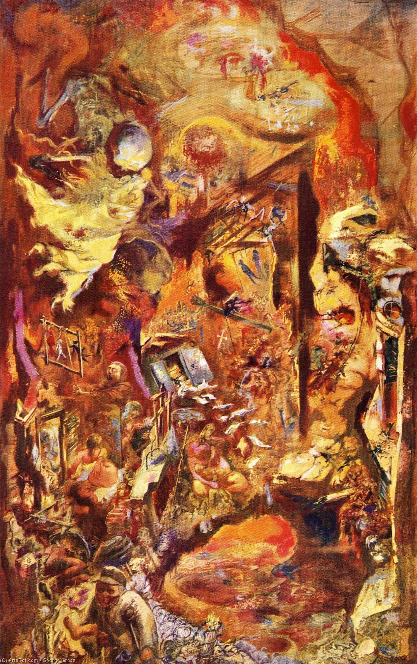 O Pit, 1946 por George Grosz (1893-1959, Germany) | Copy Pintura | ArtsDot.com
