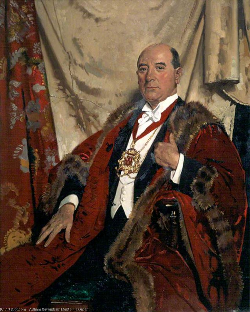 sir andrew lewis , Lld , senhor reitor de aberdeen por William Newenham Montague Orpen (1878-1931, Ireland)