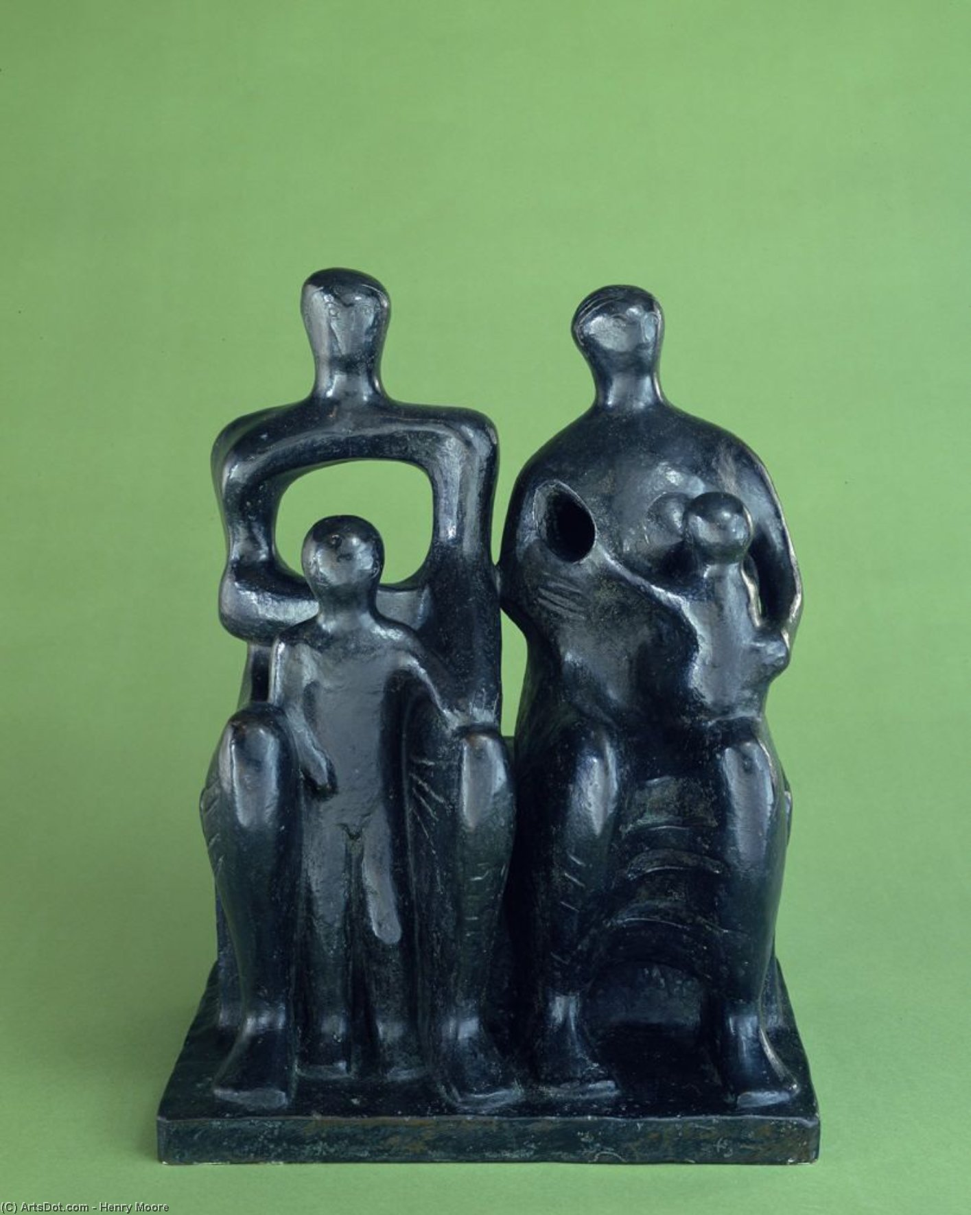 família Group1  , escultura por Henry Moore (1898-1986, United Kingdom)