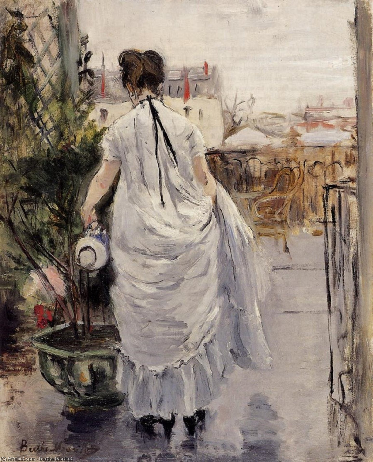In her lifetime Berthe Morisot 184195 was considered by her close friends Renoir Monet and Degas to be as central as anyone to the Impressionist