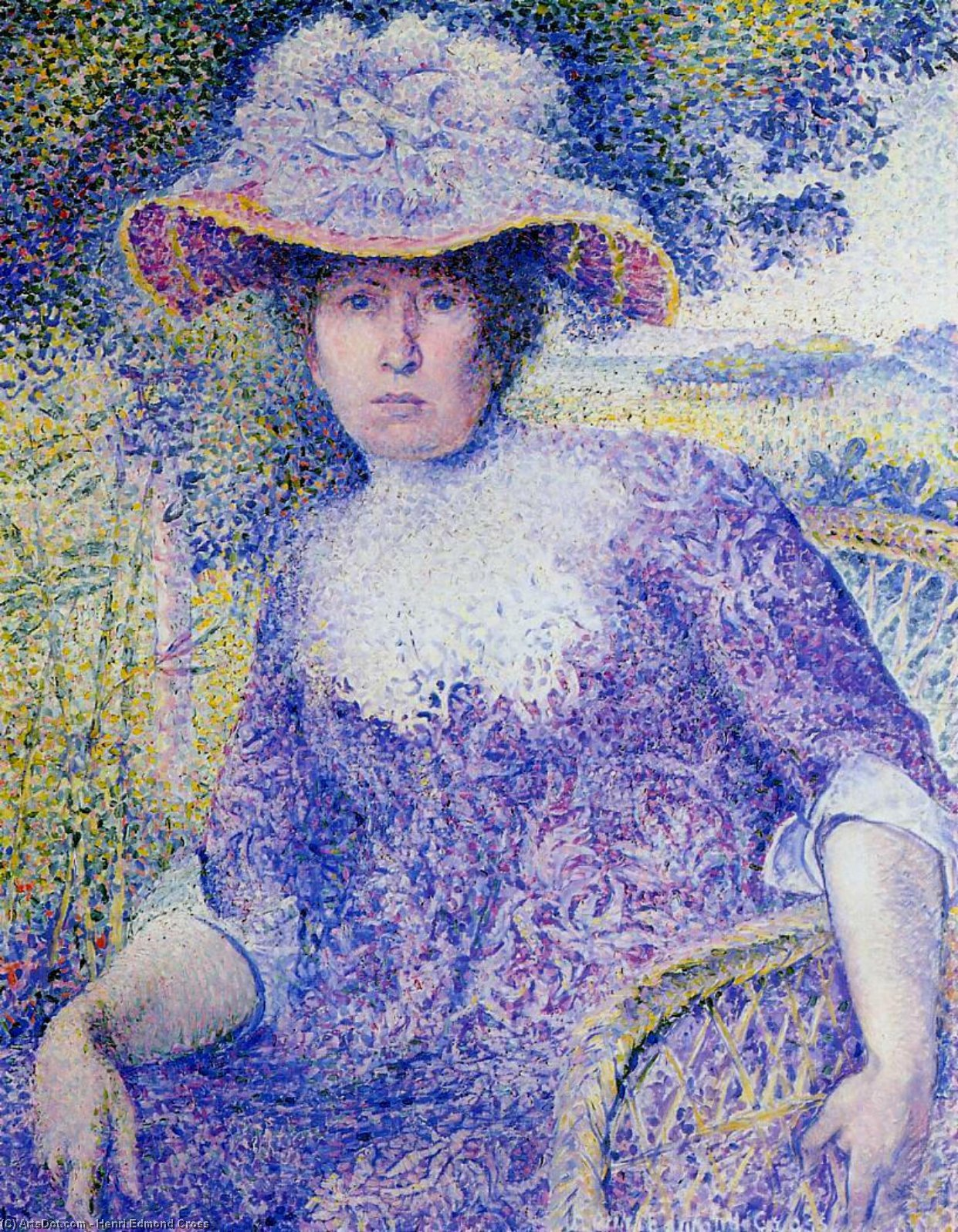 Retrato de Madame Cruz, óleo sobre tela por Henri Edmond Cross (1856-1910, France)