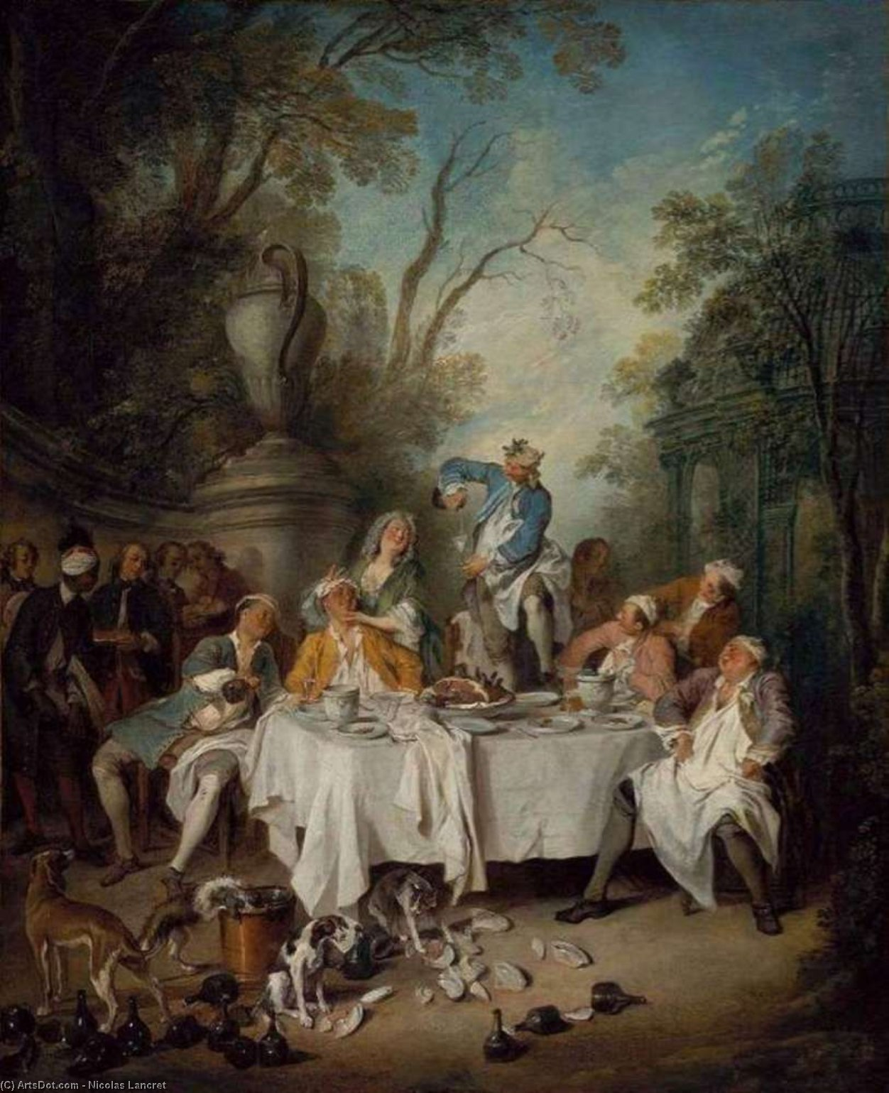 Almoço do partido por Nicolas Lancret (1690-1743, France)