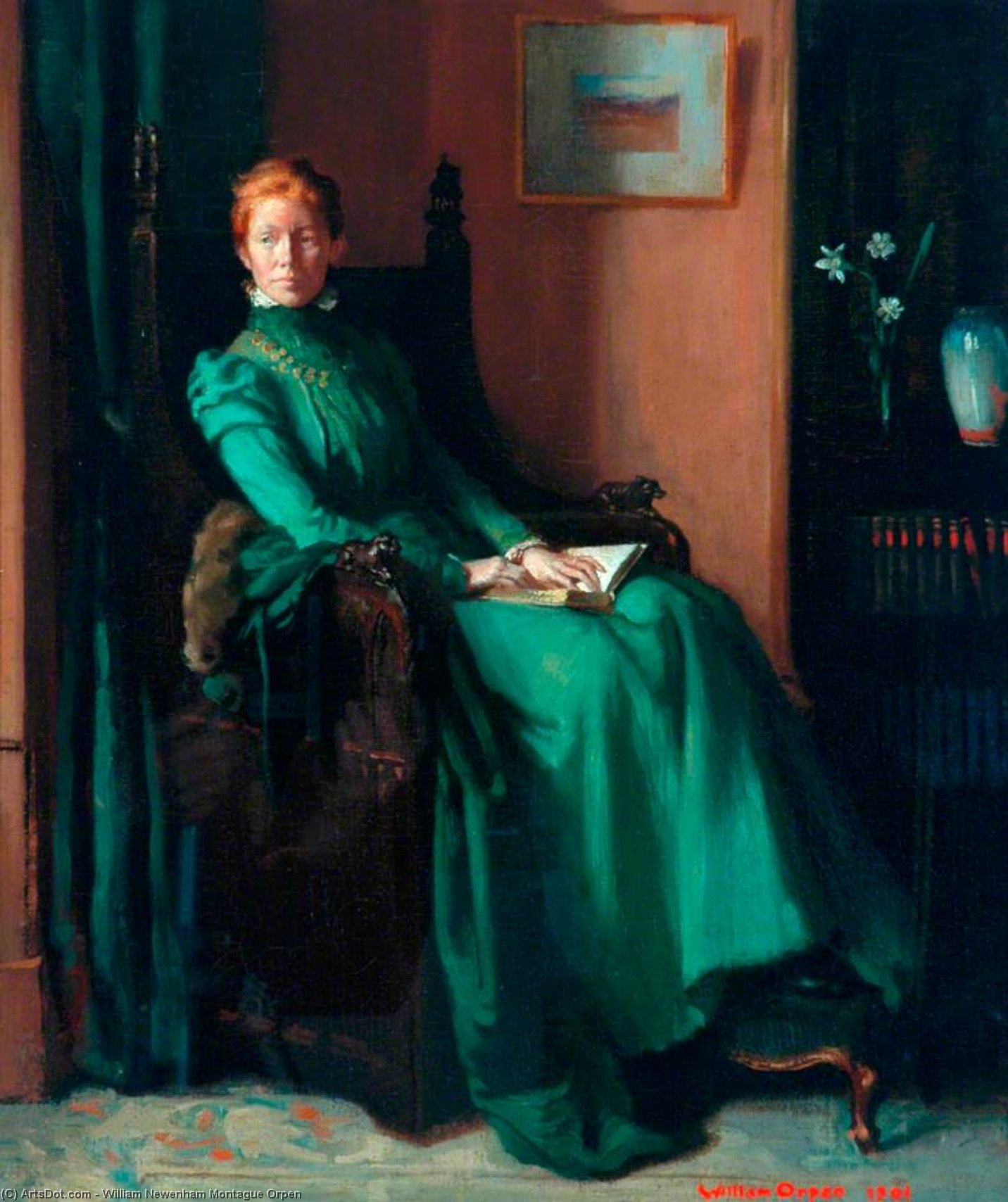 mrs charles hughes por William Newenham Montague Orpen (1878-1931, Ireland)