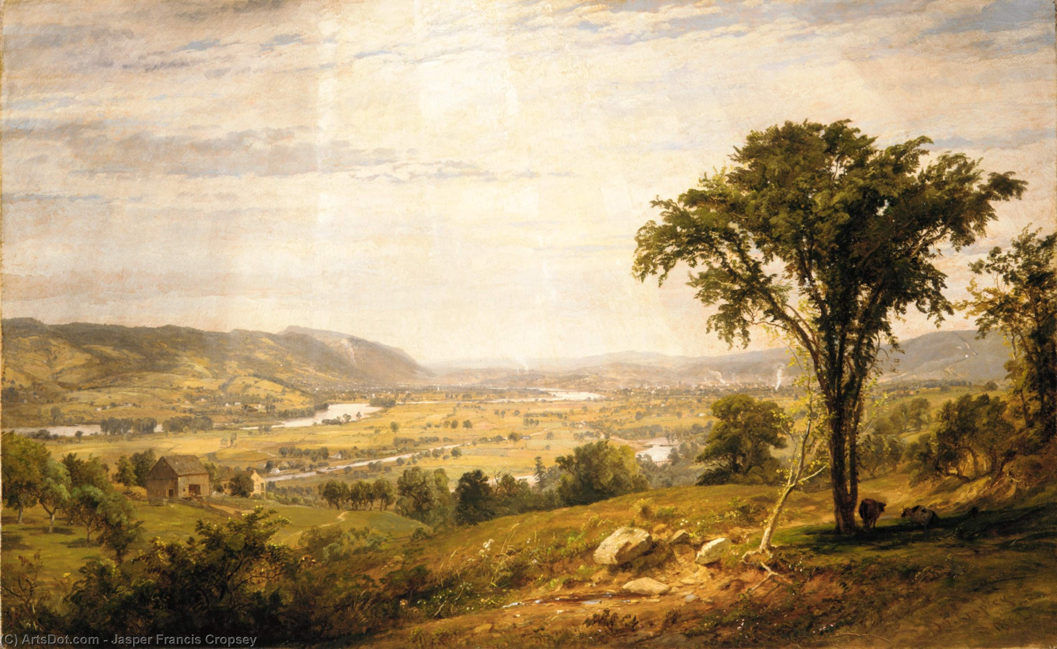 wyoming vale pensilvânia por Jasper Francis Cropsey (1823-1900, United States)