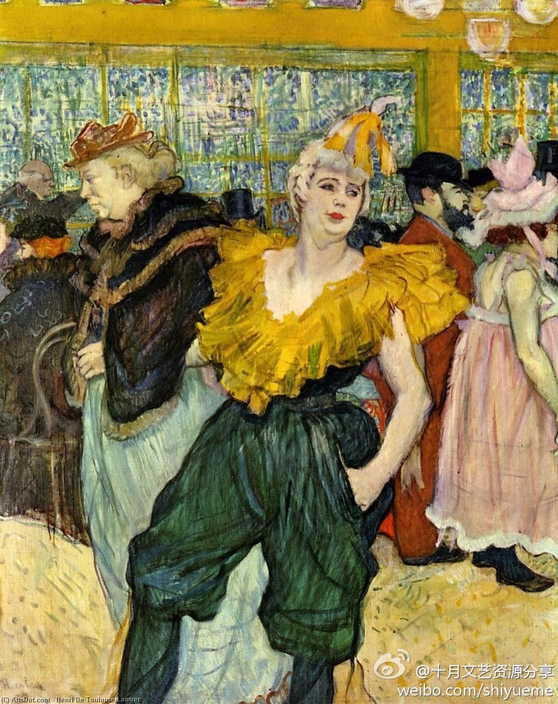 No moulin rouge o clowness Cha-U-Kao por Henri De Toulouse Lautrec (1864-1901, France)