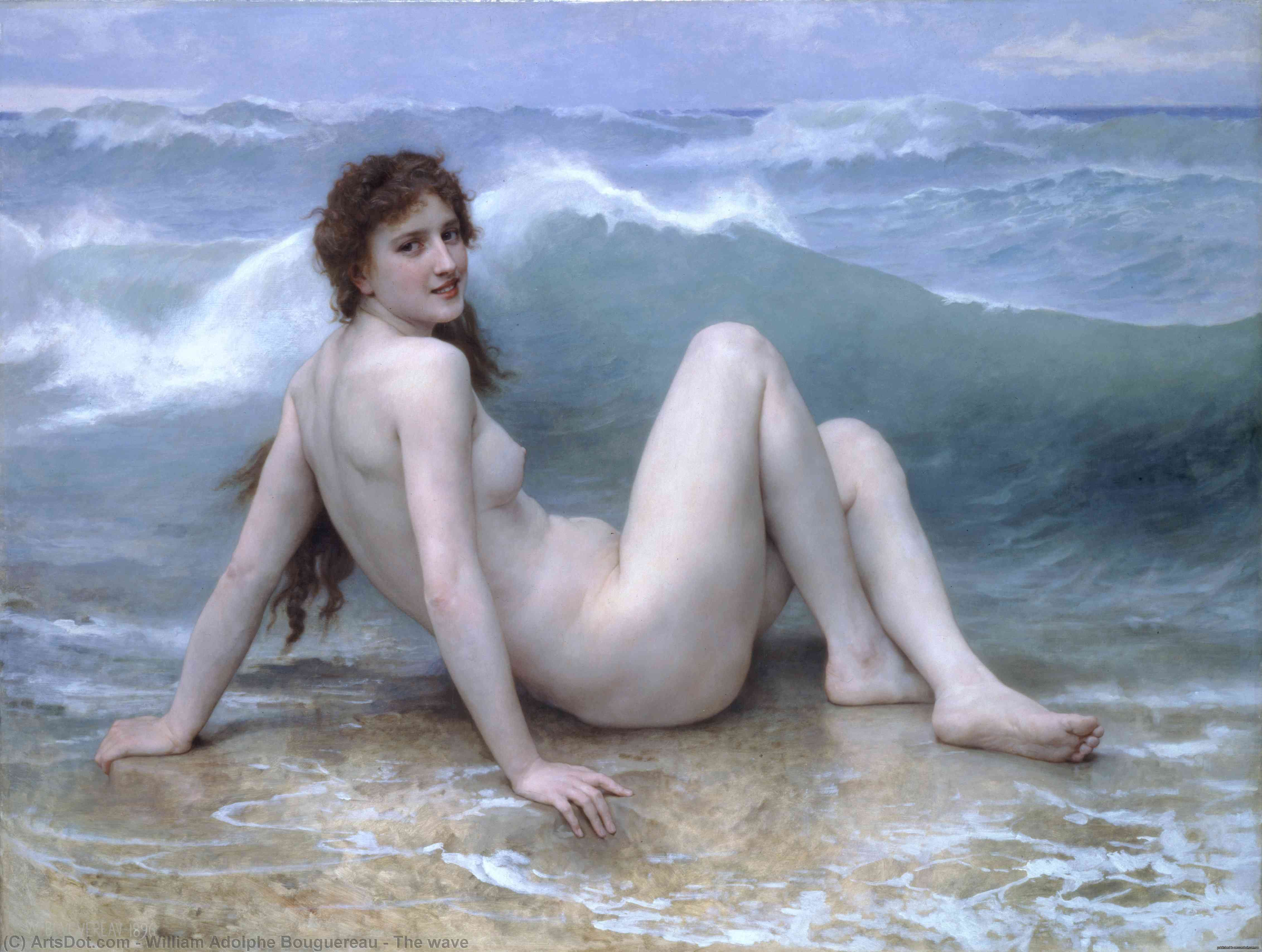 o onda, 1896 por William Adolphe Bouguereau (1825-1905, France) | Reproduções De Arte William Adolphe Bouguereau | ArtsDot.com