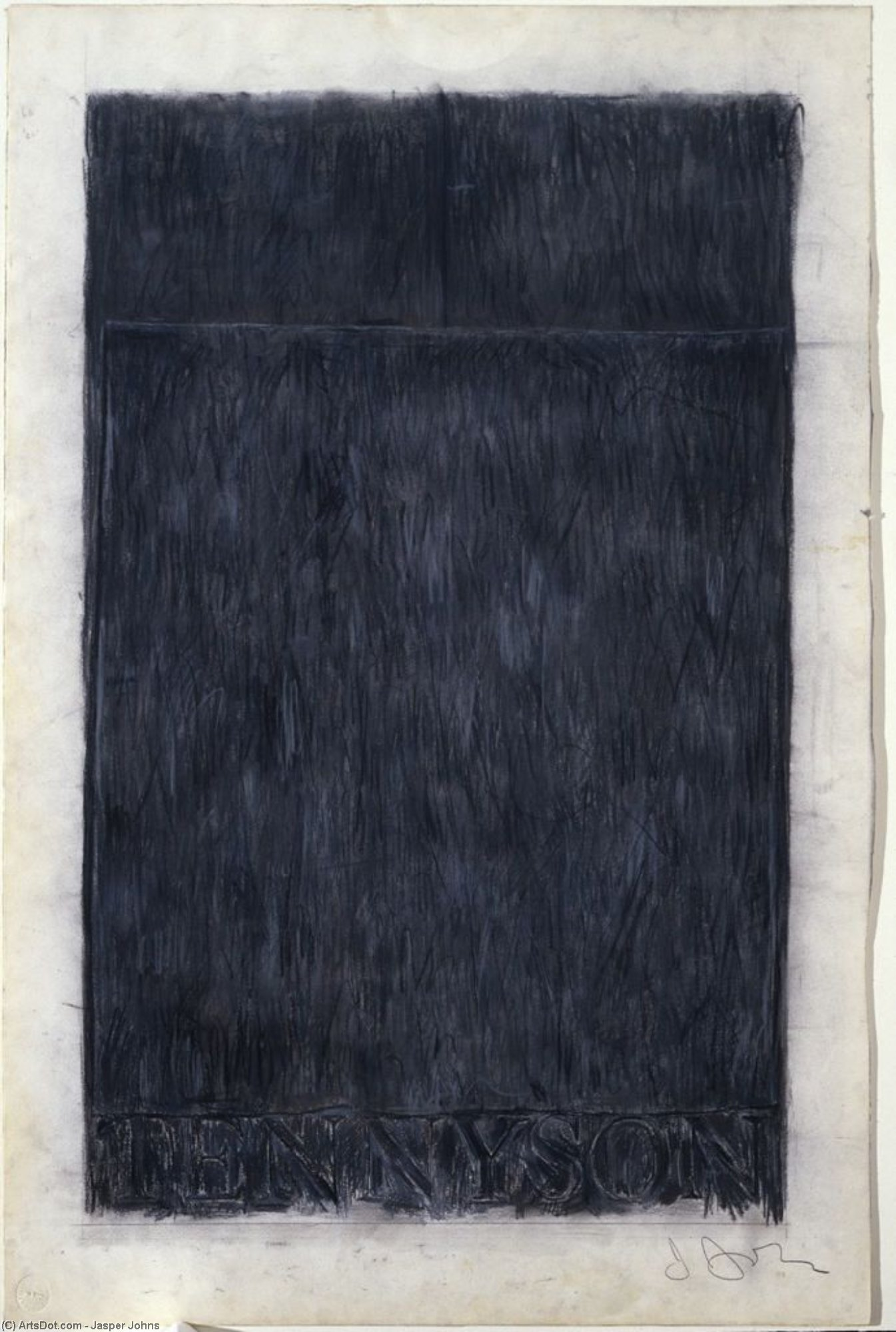 Tennyson, 1959 por Jasper Johns