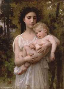 William Adolphe Bouguereau - O irmão mais novo 1900