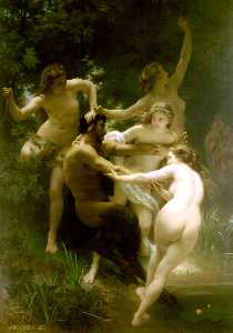 William Adolphe Bouguereau - NINHOS e satyre