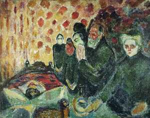 Edvard Munch - Perto do leito da morte (..