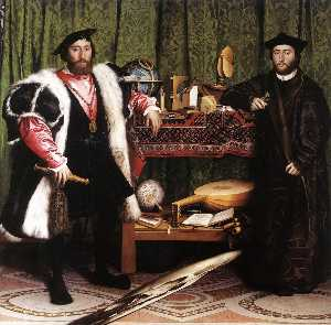 Hans Holbein The Younger - jean de dinteville e geor..