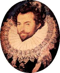 Nicholas Hilliard - sir walter raleigh