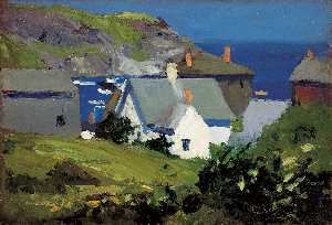 Edward Hopper - Monhegan Moradias , Maine