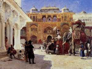 Edwin Lord Weeks - chegada do príncipe humbe..