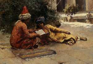 Edwin Lord Weeks - Dois árabes Reading