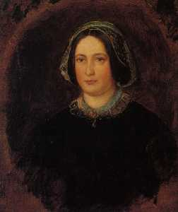 John Everett Millais - Retrato da Sra William Evamy o  artistas  tia