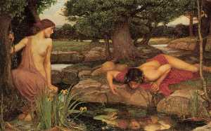 John William Waterhouse - Eco e Narciso