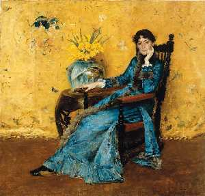 William Merritt Chase - Retrato da senhorita Dora Whee..