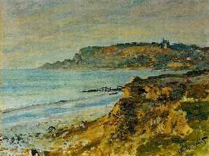 Claude Monet - penhasco na Sainte-Adresse