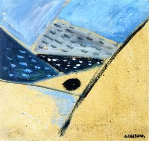 Auguste Chabaud - paisagem abstrato