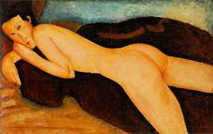 Amedeo Modigliani - nu reclinado do atrás