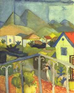August Macke - Primeiro .  Germain near ..