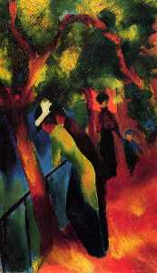 August Macke - Ensolarado forma