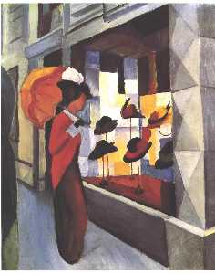 August Macke - O Hat Shop