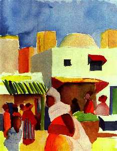 August Macke - Mercado em Argel