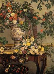 Jean Frederic Bazille - flores