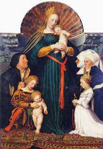 Hans Holbein The Younger - Madonna do Burgermeister ..