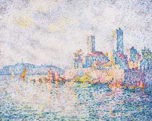 Paul Signac - Antibes , a towers