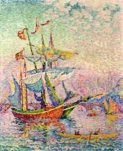 Paul Signac - le corne d-Or , le pont