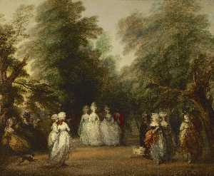 Thomas Gainsborough - o shopping em st . James-s Parque