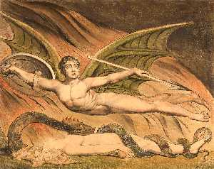 William Blake - satanás exultando sobre eva