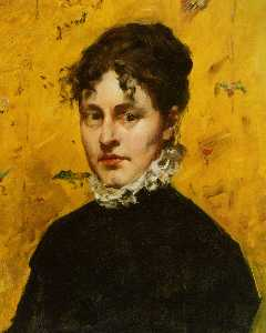 William Merritt Chase - Retrato do Artist's Sister-in-..