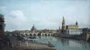 Bernardo Bellotto - vista de dresden do marge..