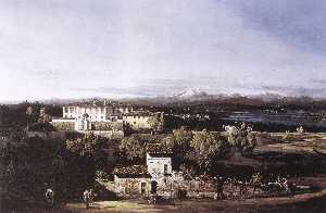 Bernardo Bellotto - Visto do Vila cagnola em ..
