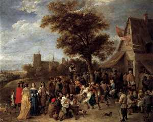 David The Younger Teniers - Camponeses Merry-making