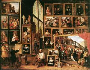 David The Younger Teniers - a galeria do arquiduque leopold em bruxelas